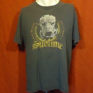Sublime - Lou Dog - Vintage T-shirt - Blue - L